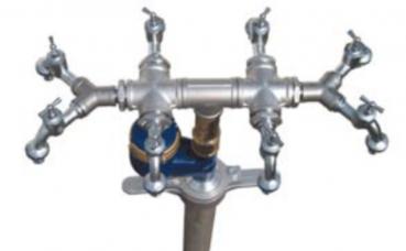 Wassermess Standrohr Storz C  Zapfhahn DN80 Wasserzähler Wasseruhr Hydrant