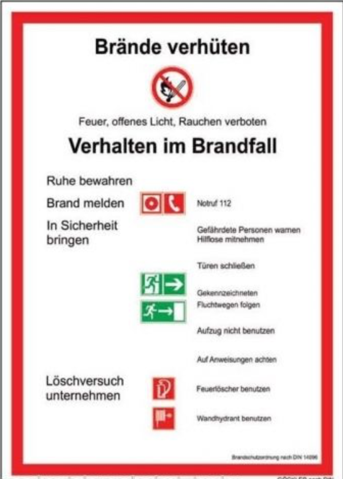 brandschutzordnung bso teil a din 14096 - Brandschutzordnung Muster