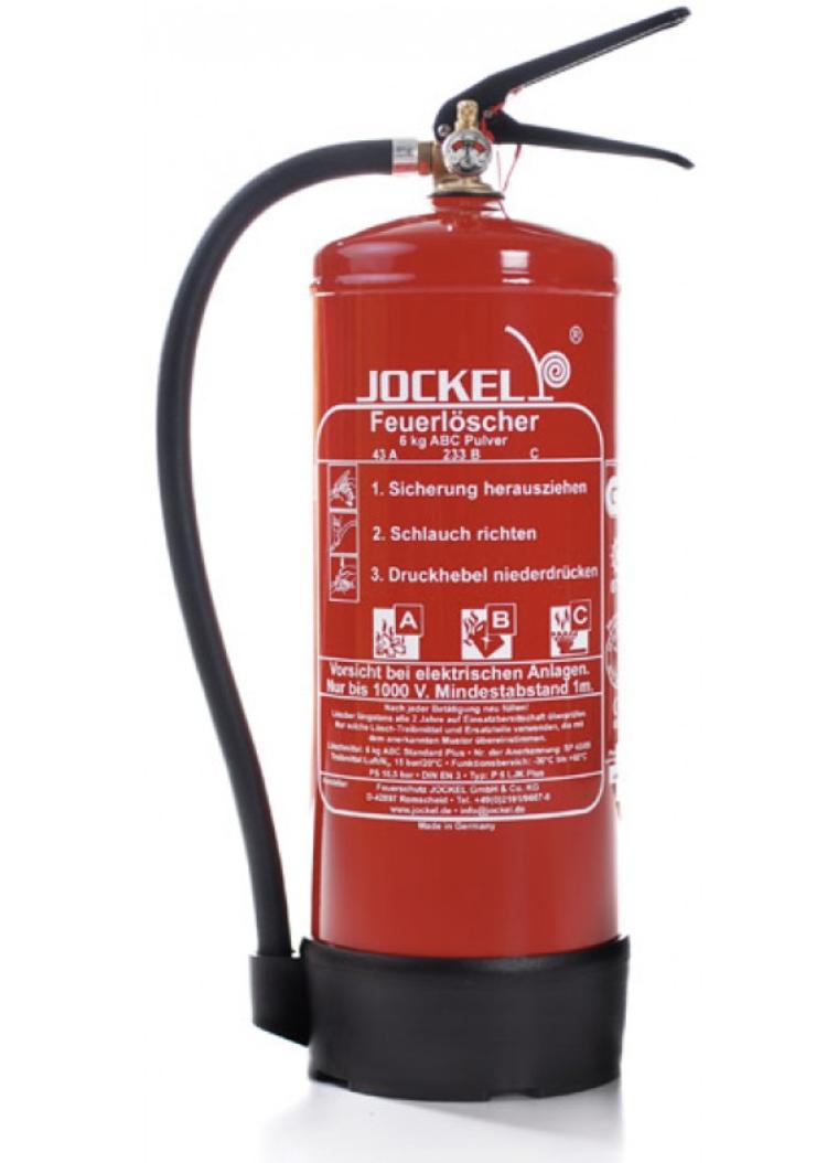 Gut gemocht Jockel Design Jockel 6 kg Pulverlöscher P6LJK Feuerlöscher ABC UH36