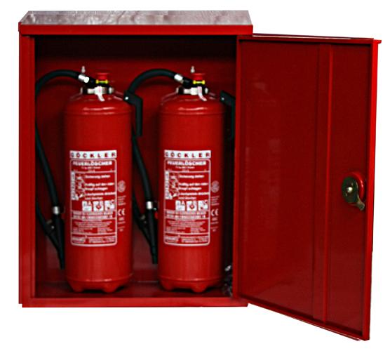 Feuerlöscher Schrank rot Brandschutzschrank Schläuche 2er Schutzschrank Box f